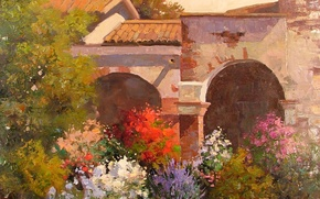Картинка арт, Sean Wallis, Evening At The Mission