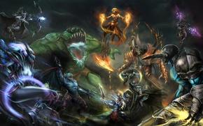 Картинка герои, сражение, Defense of the Ancients, DOTA
