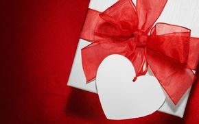 Картинка любовь, подарок, сердце, valentine's day