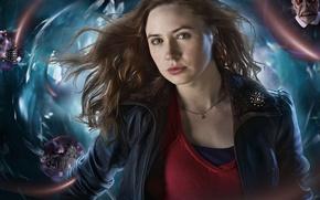 Обои девушка, сериал, Doctor Who, рыженькая, Доктор Кто, Карен Гиллан, Karen Gillan