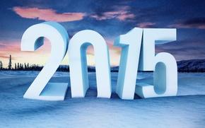 Картинка закат, обои, рабочий стол, Новый Год, wallpaper, Christmas, sunset, winter, background, snow, New Year, 2015