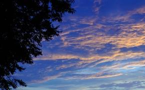 Картинка лето, тучи, фон, Облака, обложка, заря
