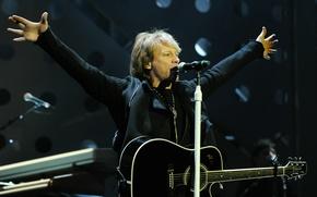Обои Bon Jovi, гитара, рок, музыка