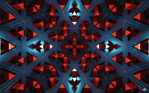 Картинка линии, полосы, рендеринг, красные