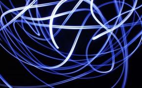 Обои energy, lights, blue