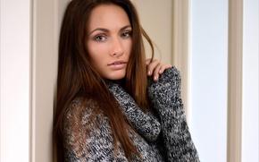 Картинка взгляд, девушка, лицо, модель, кофта, Milena D, Mila K, Michaela Isizzu, Michaela Madarova, Kalena A