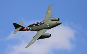 Картинка истребитель, войны, бомбардировщик, реактивный, мировой, Второй, времён, Me.262, самолёт-разведчик, Мессерщмитт
