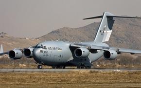 Картинка Boeing, ВВС США, C-17, американский стратегический военно-транспортный самолёт, Globemaster III