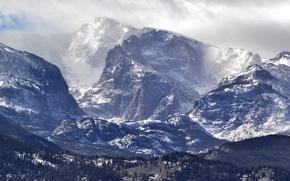 Картинка Зима, Горы, Снег