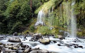 Картинка California, Mossbrae Falls, Dunsmuir