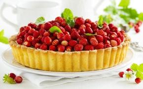 Картинка ягоды, земляника, пирог, cake, выпечка, berries, strawberries, pastries