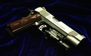 Картинка пистолет, оружие, ткань, cal.45, Springfield Armory
