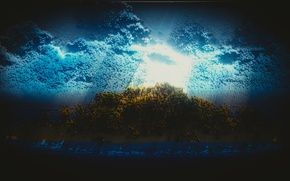 Картинка небо, трава, природа, земля, 8bit, Square Eyes