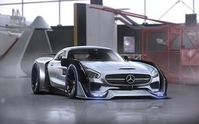 Картинка Mercedes-Benz, AMG, Tuning, Future, Sci-Fi, by Khyzyl Saleem