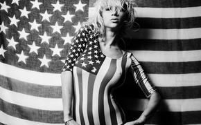 Картинка USA, sexy girl, ч\б, Natasha Legeyda, The United States of America