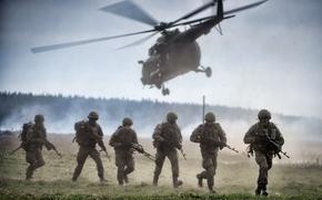 Картинка солдаты, вертолёт, десант
