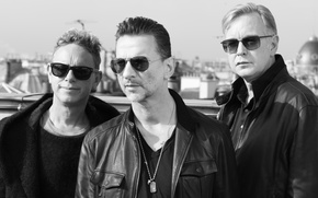 Обои Delta Machine, Depeche Mode, Martin Gore, David Gahan, Andrew Fletcher
