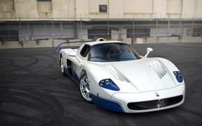 Картинка Maserati, Blue, White, 2005, MC12