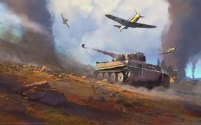 Картинка танки, самолёты, game wallpapers, Вторая Мировая война, WW2, War Thunder
