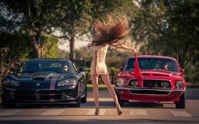Картинка девушка, машины, Need for Speed, старт, Kristina Yakimova
