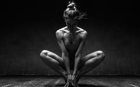 Обои rhythm, pose, music, Ballerina