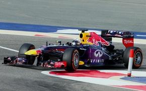 Картинка Гонщик, Formula 1, Red Bull, Sebastian Vettel, Чемпион, RB9