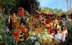Картинка цветы, поляна, сказка, картина, цирк, фэнтези, lrs Christensen