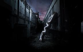 Картинка Мрак, локомотив, вывеска