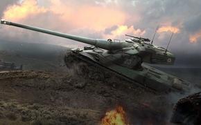 Картинка WoT, World of Tanks, Мир Танков, Wargaming Net, AMX 50 B