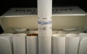Картинка пачка, бренд, сигареты, night blue, parliament, перевернутая сигарета