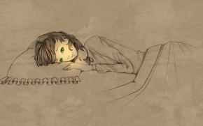 Картинка свет, настроение, вечер, арт, девочка, перед сном