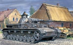 Картинка рисунок, дома, танкист, вермахт, панцер 4, средний танк, Ron Volstad, Польша 1939 год, Т-4, PzKpfw …