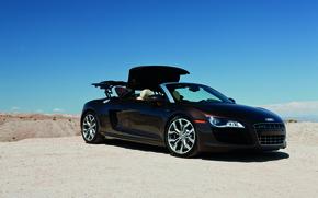 Картинка суперкар, Audi R8, cars, auto, 2011, Spyder, cars walls, Supercars, обои авто, audi wallpapers