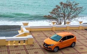 Картинка Оранжевый, Car, Автомобиль, Lada, Лада, 2015-16, XRAY, (GAB)