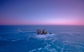 Картинка море, небо, скала, камни