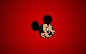 Картинка simple, red, texture, cartoon, disney, paper, Mickey, mouse