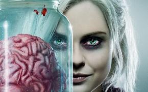 Картинка girl, zombie, blood, undead, green eyes, New Zealand, woman, blonde, brain, official wallpaper, TV series, ...