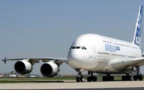 Картинка самолет, гигант, airbus, A380