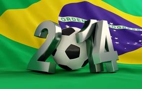 Картинка football, flag, World Cup, Brasil, FIFA, 2014