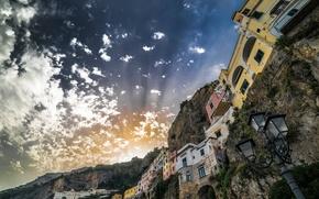 Картинка Italy, Campania, Amalfi, Sunset
