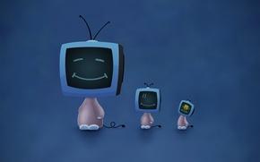 Обои Vladstudio, Улыбки, Телевизоры, Губка Боб