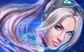 Картинка лицо, starcraft, Nova Terra, nova