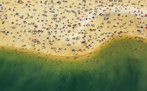 Обои пляж, люди, отдых, отпуск, Германия, Северный Рейн-Вестфалия, Гальтерн-ам-Зе