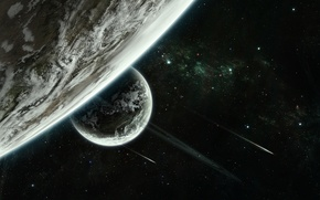Картинка stars, planet, sci fi