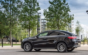 Обои 2015, mercedes-benz, gle, 4matic, coupe, amg, uk-spec, c292