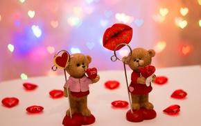 Картинка любовь, праздник, игрушка, сердце, медведь, 14 февраля, valentine's day, День влюбленных