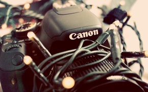 Картинка камера, фотоаппарат, гирлянда, canon