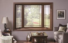 Картинка дизайн, стиль, комната, интерьер, окно, кресла