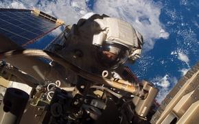 Картинка Земля, космонавт, МКС, фото, астронавт, NASA