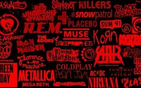 Картинка рок, группы, логотипы, rock music